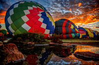 Colorful Balloons Preparing for Morning Lift Off