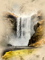 Skogafoss Iceland, Discarded Yellow Raincoat
